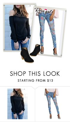 """""""Love Jeans"""" by dzemila-c ❤ liked on Polyvore featuring rosegal"""