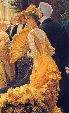 "James Tissot - The Ball....I wonder if that was this young Ladie`s coming out, ""Debutante""...Debut?"