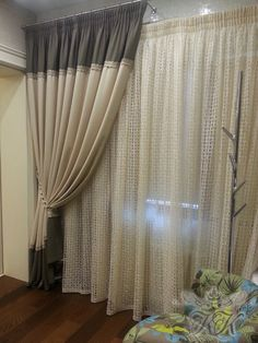 Luxury Curtains, Elegant Curtains, Apartment Curtains, Bedroom Furniture, Bedroom Decor, Long Shower Curtains, Room Interior, Interior Design, Hidden Bed