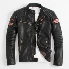 Find More Leather & Suede Information about 2014 USA Motorcycle clothing Stand collar Short paragraph Indian chief embroidery Cowhide Men's leather jackets Limited amount,High Quality jacket leather,China leather jacket coat Suppliers, Cheap leathers boots from Freedom-Enterprising on Aliexpress.com