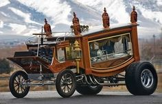 """This cool famous hot rod hearse, called the """"Boot Hill Express"""", was created and built by Kansas City customizer Ray Fahrner."""
