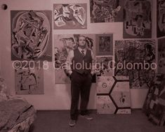 "December 2017 Carloluigi Colombo in his atelier. Colombo was born in Faenza on March 28th, 1981.  He's an Italian painter, sculptor and music composer. In 2012 Colombo created the Esorinism art or the ""esoteric"" surrealism. He lives in Riolo Terme Italy."