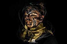 http://alxmarroquin.com/342417/5077487/photo-graphic/golden-atmosphere #Fotografía #Photography #Bodypainting #MakeUp