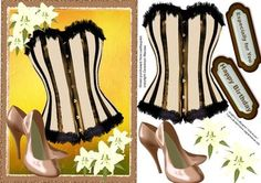 Beautiful Sepia Corset on Craftsuprint - Add To Basket!