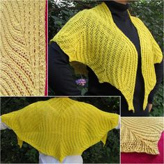 10 free #crochet shawl patterns on Craftsy - leaf crochet shawl
