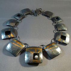 Pat Daugherty Jewelry Design - Pendants   Korean process of bonding pure gold to silver