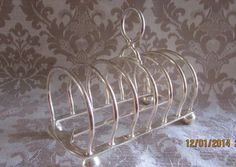 Vintage  1950's  English Silver Plate Toast Rack  by angelinabella