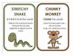 Kindergarten Reading Strategy Cards - No matter what grade, I'll probably want these on the wall!
