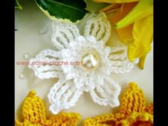 FLORES EM CROCHE NARCISO SILVESTRE - YouTube