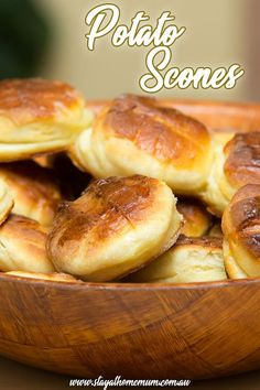 How to Make Scottish Potato Scones. Heavy, delicious scones that should be served hot with lashings of butter. The perfect comfort food when it is cold and miserable outside. Scottish Dishes, Scottish Recipes, Irish Recipes, Gf Recipes, Baking Recipes, Scottish Desserts, Potato Scones Recipe, Savory Scones, Savoury Biscuits