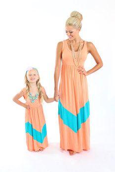 Ryleigh Rue Light Apricot and Aqua Maxi Dress - Ryleigh Rue Clothing by MVB