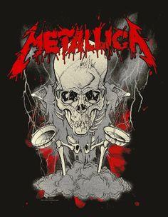 metallica posters - Google Search Metallica Tattoo, Metallica Art, 80s Rock Bands, Rock And Roll Bands, Cool Bands, Rock Posters, Band Posters, Concert Posters, Hard Rock