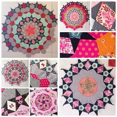Tula Pink (@tulapink) | I have been getting a lot of questions about the #EpicMillefioriQuilt that I have been working on. You can buy the Millefiori Quilts book and the EPP templates both needed from @paperpiecesepp at www.paperpieces.com  | Intagme - The Best Instagram Widget