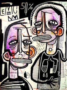 Funky Art, Arte Horror, Art Hoe, Oui Oui, Naive Art, Psychedelic Art, Surreal Art, Cool Drawings, Art Inspo
