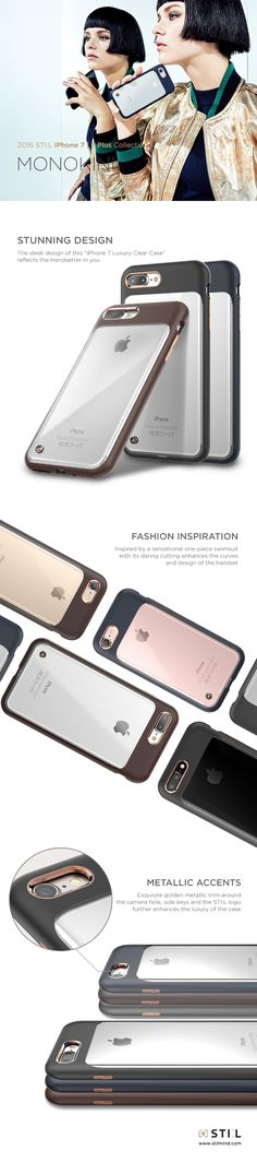 """""""MONOKINI"""" is a stunning clear case for #iPhone7, #iPhone7Plus inspired by a sensational one-piece swimsuit. This case has a minimalistic look which reveals the beauty of the iPhone within. #monokini #iPhone7 #iphone7plus #iphone #stilmind #stilcase #stilphonecase #stil #apple #7plus #fashion #trend #item #design #mobile #phone #case #2016fw #2016collection #vegetableleather #italianleather #catalog #ebook"""