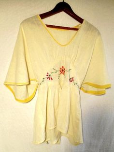 Vintage 70's hippie boho embroidered Shirt by houuseofwren on Etsy,
