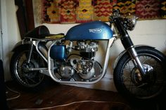 JXD in fifth stage, and yet another complete rebuild. (I seemed to have plenty of time on my hands back then) Goodies include new motor-alternator model, morgo oil pump, lightened timing gear, twin plug head, new carbs. Looks a bit like it is a test set up as everything is just hung in the frame.