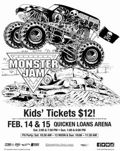 116 Best Colour Pages Monster Truck images | Monster ...