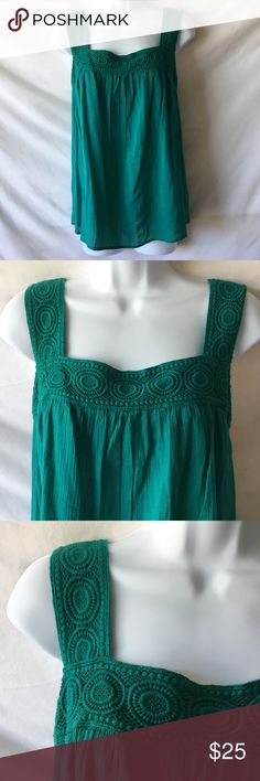 Teal Green Tank Top This is a Teal Green Tank Top from Old Navy. Brand new. Great for the changing weather. Old Navy Tops
