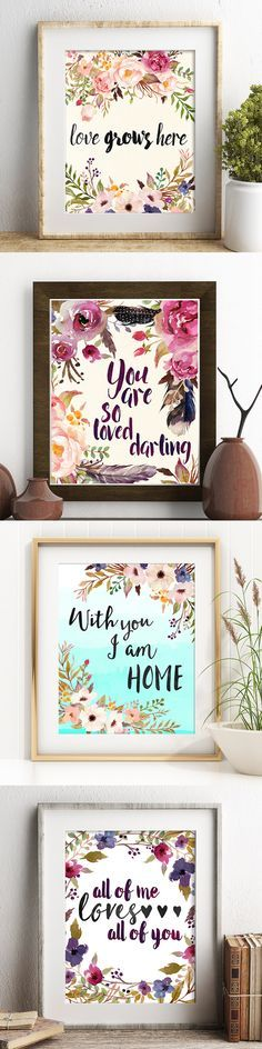 30 romantically inspired prints with gorgeous watercolor styling - only $3.99!