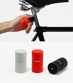 Design italiano per Lucetta, la luce a LED per viaggiare in sicurezza in bicicletta. Composta da due piccole luci magnetiche, si attacca e stacca dalla bici all'occorrenza. Molto Smart. Scelto da barriqueeyewear.it