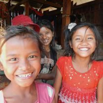 Curious girls in northern Cambodia. Trueworldtravels.com