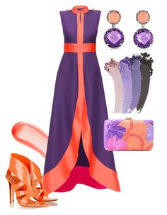 """Purple Queen"" by chrisger ❤ liked on Polyvore featuring NARS Cosmetics, Lattori, Nicholas Kirkwood, Serpui, David Yurman and Gucci"