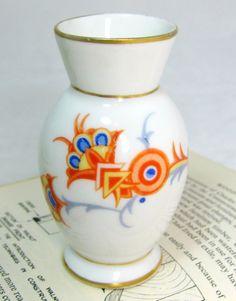 A sweet deco delight... Art Deco Porcelain Vase Bavarian Jazzy Spritzdekor by keepsies, £4.00