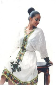.// Ethiopian traditional dress. Pinned by Ellen Rus.                                                                                                                                                                                 More