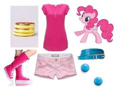 """""""Pinkie Pie - Casual"""" by catloverd ❤ liked on Polyvore featuring Abercrombie & Fitch, My Little Pony, ASOS, Monsoon, Akira, Candie's, mlp, pinkie pie and my little pony"""