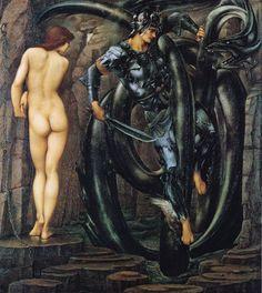 """Perseus Slaying the Dragon""  Edward Burne-Jones."