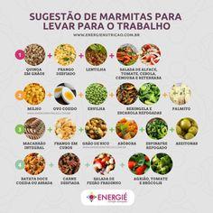 Comidas para marmita all hair style image - Hair Style Image Healthy Menu, Healthy Life, Healthy Eating, Veggie Recipes, Healthy Recipes, No Carb Diets, Creative Food, Easy Cooking, Good Food