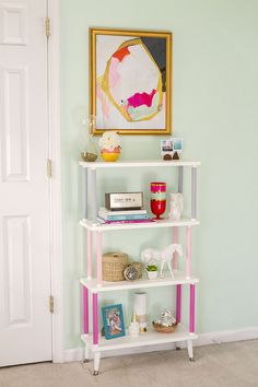 If finding the perfect shelving unit to suit your modern taste has left you feeling like you're banging your head against a wall, just build it yourself. The process for this type of wooden shelf ...