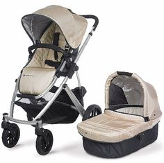 UppaBaby Vista- Available at Nordstom's and Giggle.  This is a great stroller for the price when you compare it to other similar styles/