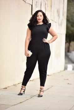 (Plus Size Jumpsuit) Tanesha Awasthi of GirlWithCurves.com