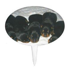 #Rottweiler Puppies Cake Topper - #rottweiler #puppy #rottweilers #dog #dogs #pet #pets #cute