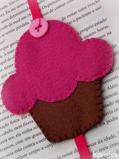 Marca página de cupcake;                                                                                                                                                     Más