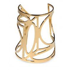 Pierre Hardy Geometric Gold Cuff - Gold Bracelet - ShopBAZAAR