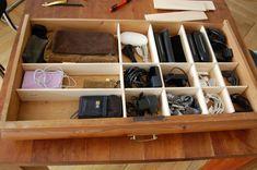 einfach selbst gemachte schubladentrenner aus sperrholz f r stifte b romaterial diy deko. Black Bedroom Furniture Sets. Home Design Ideas