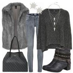 Gray Damen Outfit - Komplettes Freizeit Outfit günstig kaufen    FrauenOutfits.de Günstig Kaufen, b90d393cc5