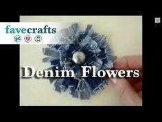 How to Make Denim Flowers