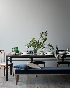 Vintage, American-Made Metal Dining Table | Canvas Home