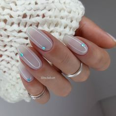 Classy Nails, Cute Nails, Pretty Nails, Fancy Nails, Manicure Y Pedicure, Gel Nails, Nail Polish, Nail Manicure, Bridal Nails