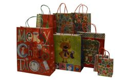Christmas gift bags, hologram design, assorted sizes, 8 piece set *** You can get more details here : Wrapping Ideas
