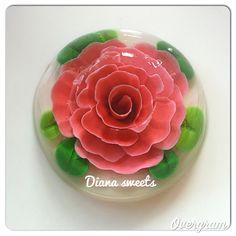 Floral gelatin art