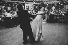 Virginia Farm Wedding First Dance 2 550x367 Rustic Farm Wedding Reception in Virginia: Libby + Joe