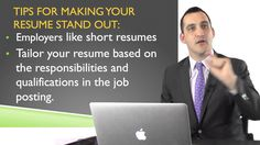 Tips To Make Your Resume Stand Out #ResumeTips