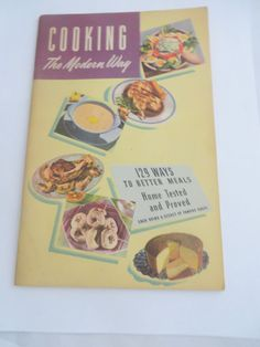 Cooking the Modern Way Vintage Cookbooklet by PECollectibles
