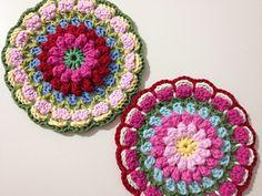 Bobbly Flower Mandala - Free crochet pattern by Mad Blanketer