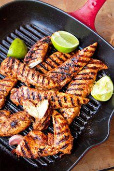 Pollo picante al limón y paprika